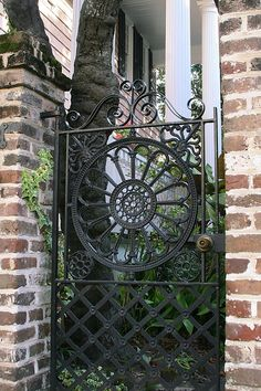 Lovely gate also would be neat as front door
