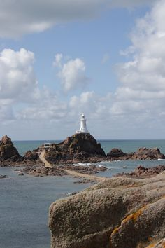 Corbiere Lighthouse, Jersey, UK. Jersey, a British channel island just off the coast of France!