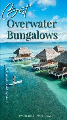 Overwater Bungalow All Inclusive, Overwater Bungalows, All Inclusive Resorts, Hotels And Resorts, Best Hotels, Unique Hotels, Glamping, Vacation Destinations, Europe