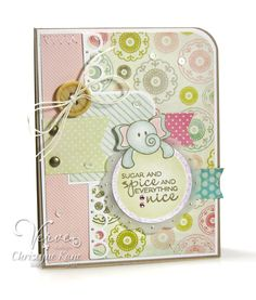 Card by Christyne Kane using To the Moon from Verve Stamps.  #vervestamps