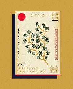Festival des Jardins by Adrien Grant Smith Bianchi, via Behance