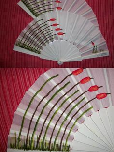 abanico Painted Fan, Hand Painted, Hand Held Fan, Hand Fans, Vintage Fans, Craft Club, Hot Flashes, Needful Things, Costume Accessories