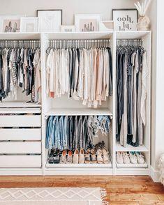 Bedroom Closet Design, Master Bedroom Closet, Room Ideas Bedroom, Home Room Design, Closet Designs, Bedroom Decor, Ikea Closet Design, Ikea Bedroom Storage, Wardrobe Design