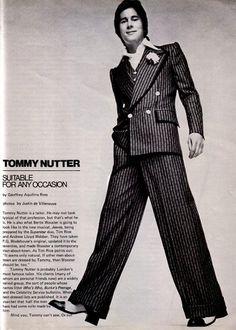English tailor, Tommy Nutter — After Dark magazine, September 1973