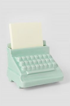 Mint Typewriter Post It Holder-  gift-cl