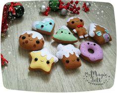 Ornamento de la Navidad adornos de pan de jengibre por MyMagicFelt