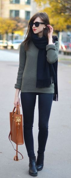 #street #style / green knit