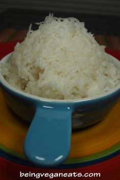 Caribbean Coconut Rice: (Vegan) This simple coconut rice recipe will enhance any Caribbean meal. We love coconuts and if you do too then you will love this side dish and find yourself making it often. It's bursting with all the sweet fragrant coconut flavors and aroma.