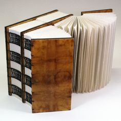 """""""Now Begins Upon Before"""" : metaphorical book structure bookbinding by Erin Keane"""