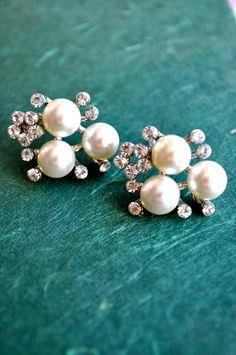 My Pearl Fantasy Earrings (Silver) - $17.00    #FlipPinWin