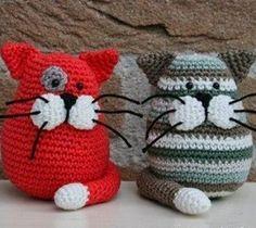 Веселые коты крючком