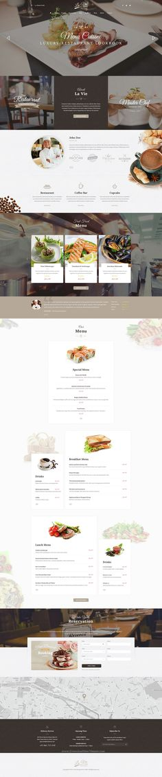 Lavie is a Responsive WordPress Theme for #Restaurant, Bar & Cafe Shop. It support e-commerce store for selling products with WooCommerce plugin. Comes in 3 stunning homepage layouts. #food #website