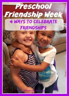 Preschool Friendship Week-4 ways to celebrate friendship Friendship Crafts, Friendship Lessons, Friendship Games, Friendship Party, Friendship Theme Preschool, Preschool Classroom, Preschool Crafts, Preschool Activities, Bullying Activities