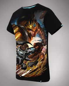 2015 mais novo dos homens de League of Legends camiseta Jarvan Ⅳ herói-