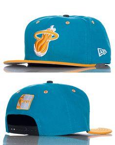 NEW ERA MENS MIAMI HEAT NBA SNAPBACK CAP JJ EXCLUSIVE Medium Blue New Era  Snapback da34e5af853