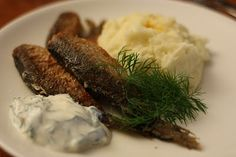 Finnish fish food: fried vendace -  paistetut muikut