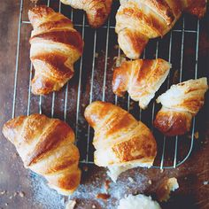 Croissants - Homemade croissants with this easy and fail-proof recipe from The Kitchy Kitchen. Buttery, flaky, golden and crunchy | rasamalaysia.com