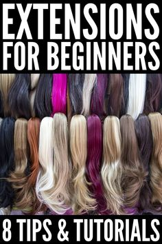 If you want to know how to style hair extensions, we're sharing our best tips along with 14 simple yet stylish step-by-step hairstyles you'll love! Hair Extensions Tutorial, Types Of Hair Extensions, Ponytail Hair Extensions, Synthetic Hair Extensions, Hair Tutorials For Medium Hair, Medium Hair Styles, Luscious Hair, American, Hair