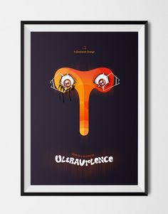 A Clockwork Orange Poster by ChrisMoranArt on Etsy  #ClockworkOrange #Kubrick #Poster