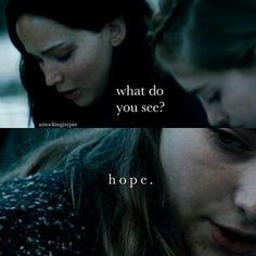 Katniss and Primrose Everdeen I love this scene
