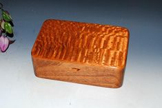 Wooden Stash Box-Wood Box Jewelry Box or Desk Box - Lacewood on Mahogany - Handmade Wood Box -Wooden Box Hinged Box With Lid Keepsake Box by BurlWoodBox Box Hinges, Barrel Hinges, Tung Oil Finish, Stash Jars, Box With Lid, Wood Boxes, Keepsake Boxes, Handmade Wooden, Anniversary Gifts