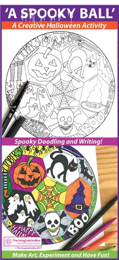 Are you looking for an awesome spooky Halloween activity for kids? Download this printable educational pack for children. Ideal for teachers to use as an easy Halloween art project. The balls make great spooky halloween decorations for the classroom. Draw
