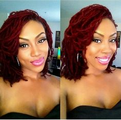 Auburn beauty Dreadlock Hairstyles, Down Hairstyles, Dreads Styles, Curly Hair Styles, Natural Hair Care, Natural Hair Styles, Dreadlocks, Dyed Dreads, Hair Affair