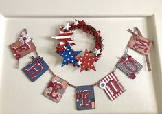 Your place to buy and sell all things handmade 4th Of July Nails, 4th Of July Fireworks, Fourth Of July, 4th Of July Wreath, Summer Banner, 4th Of July Desserts, Cherries Jubilee, Let Freedom Ring, 4th Of July Decorations