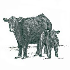 Cow-Calf by NeilCattle on Etsy