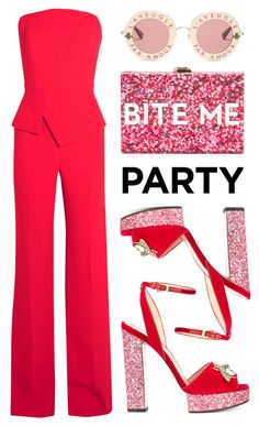 """Party"" by pure-vnom ❤ liked on Polyvore featuring Roland Mouret, Gucci and Milly"