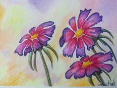 Watercolor, Inktense pencils