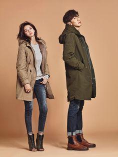 Lee Kwang Soo and Nara (Hello Venus) 2016 collection for brand Buckaroo. Couple Posing, Couple Shoot, Korean Celebrities, Korean Actors, Running Man Cast, Korean Couple Photoshoot, Kwang Soo, Couple Photography Poses, Korean Star