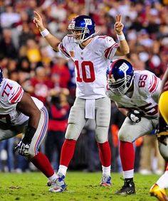 Eli Manning of the NY Giants