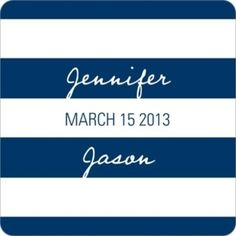 stationery  Symmetry and Stripes -- Wedding Favor Stickers, Pear Tree Greetings