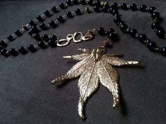 Nature Rosary Real Marijuana Leaf OG Kush 24k by DelightAndRage, $75.00  @High Times