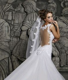 Mermaid-Wedding-Dress-with-removable-Bridal-Dress-Tulle-Ivory-Size-12