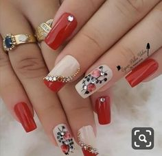 Elegant Nail Designs, Diy Nail Designs, Colorful Nail Designs, Nail Polish Designs, Hot Nails, Hair And Nails, Cute Nails For Fall, Thanksgiving Nails, Luxury Nails