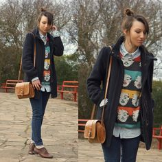 Quirky outfits, I love! Oxford shoes, I love even more! Oxford Shoes Outfit, Casual Oxford Shoes, Got The Look, Loose Sweater, Geek Chic, All Fashion, Ladies Dress Design, Collar Shirts, My Outfit