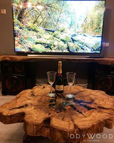 Epoxy Olive Wood Log Coffee Table