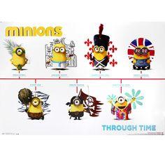 Minions Poster Through Time. Hier bei www.closeup.de