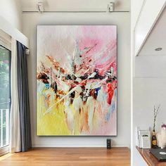 Large Modern Wall Art Painting Art Deco Large Abstract image 8 Large Canvas Wall Art, Extra Large Wall Art, Canvas Art, Large Painting, Painting Canvas, Oversized Wall Art, Colorful Artwork, Office Wall Art, Texture Art