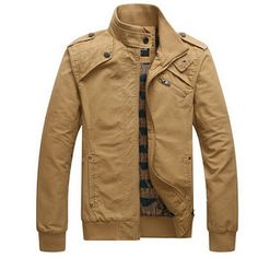 Winter Jacket Mens Casual Jacket Cotton Stand Collar Coats Army Military Outdoors mens Male clothes overcoat (32378800129)  SEE MORE  #SuperDeals