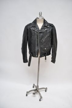 vintage leather jacket excelled perfecto style by goodbyeheart