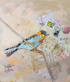 birds, stamps, ephemera