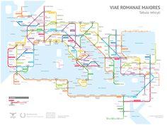 Alle wegen leiden naar Rome … Een Amerikaanse statistiekstudent nam dit gezegde wel héél letterlijk, want hij creëerde een hedendaagse metrokaart van het oude Romeinse Rijk.