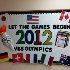 Let the Games Begin -- adaptable bulletin board for an Olympics theme.
