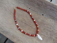 Agate and bone bead neckace- Jaana Hopkins- Helmien talo