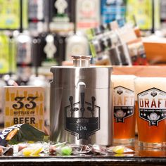 The Personalized Growler Crate is a beer lover's gift that transports the weekend brewery beer bender experience to the relaxing environs of your home. Man Crates, Gift Crates, Gifts For Hubby, Gifts For Beer Lovers, Beer Christmas Gifts, Christmas Time, Christmas Ideas, Customized Gifts, Personalized Gifts