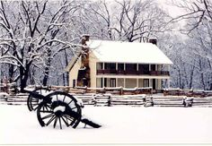 Pea Ridge National Military Park (NW Arkansas): Step back in time when visiting this 4,300 acre civil war battlefield where 26,000 soldiers fought. Pea Ridge was one of the most pivotal Civil War battles and is the most intact Civil War battlefield in the United States. (Photo: Elkhorn Tavern in Winter)