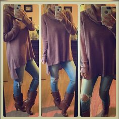 Last oneLovely top Beautiful color !!! Stretch loose & light  turtleneck. One of my faves!!! Tops